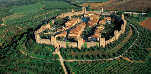 The fortified village of Monteriggioni